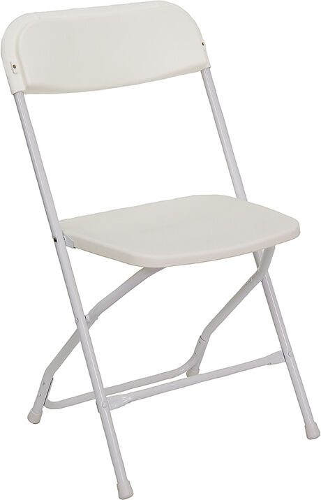 Lot 100 White Lightweight Steel Frame Folding Chairs