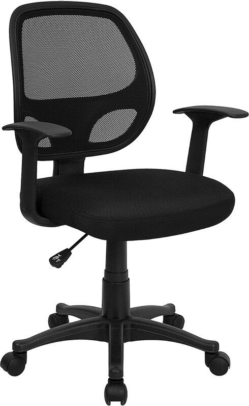 black mesh computer office desk chair with arms ebay