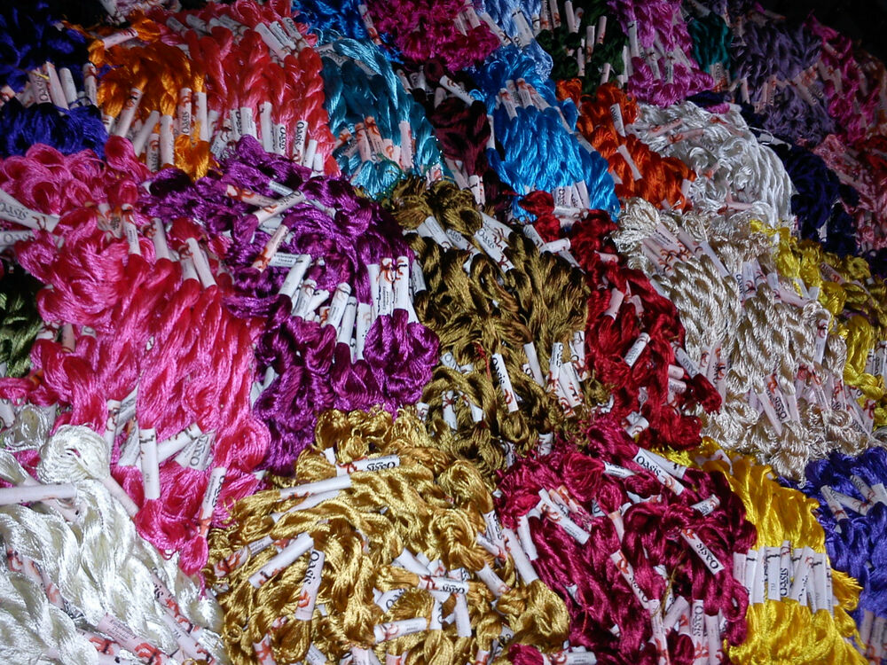 150 Art SilkRayon Stranded Skeins Embroidery Thread 150