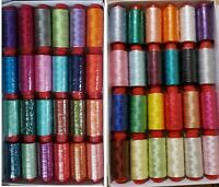 30 Large Embroidery Machine Thread for Brother,Janome more, 30 Colours