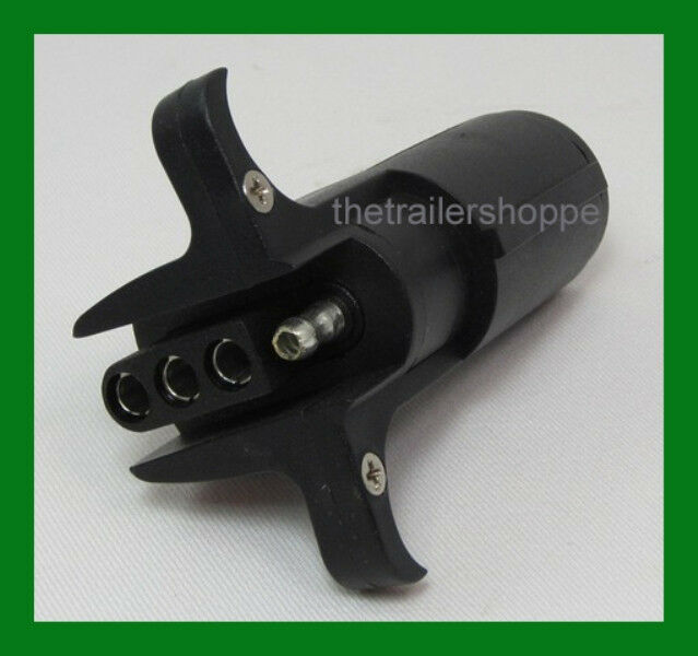 trailer light adapter plug 6 round to flat 4 pin ebay. Black Bedroom Furniture Sets. Home Design Ideas