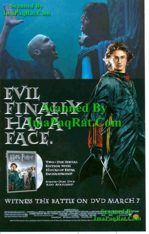 Harry Potter & the Goblet of Fire: Great Photo Print Ad 5028486380619