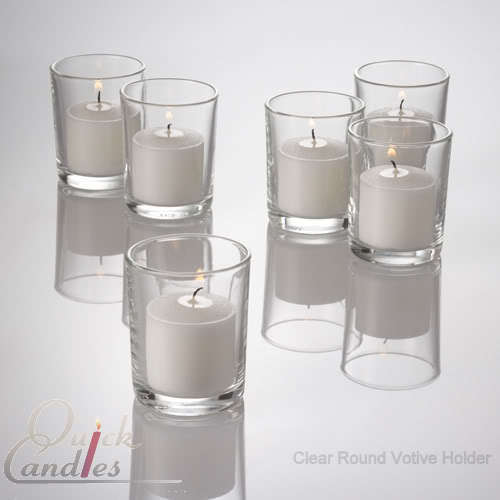 set of 72 glass votive candle holders crystal clear ebay. Black Bedroom Furniture Sets. Home Design Ideas