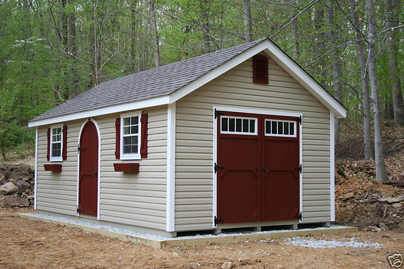 Amish built 12x20 a frame vinyl storage shed with upgraded for Amish built sheds