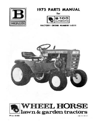 Wheel Horse Tractor Engines : Wheel horse tractor parts manual b auto ebay
