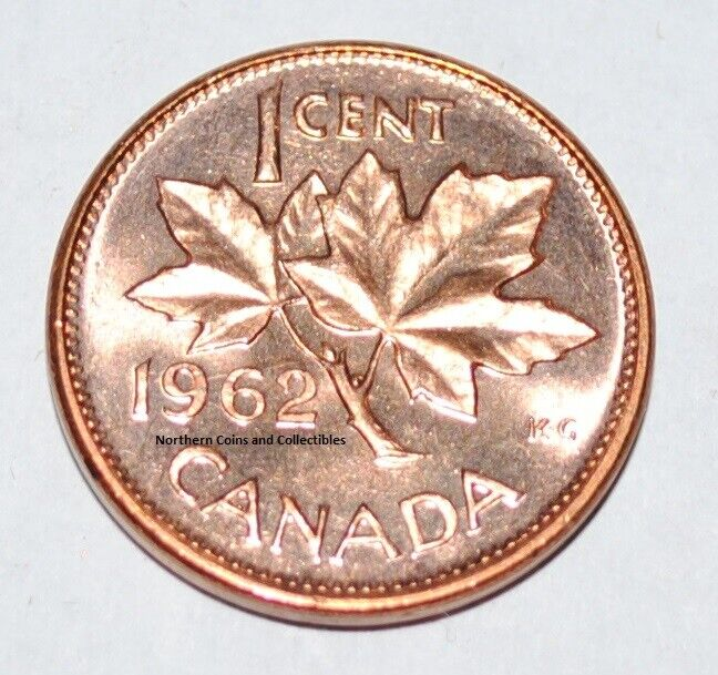 1962 Hanging 2 1 Cent Canada Copper Nice Uncirculated Ebay