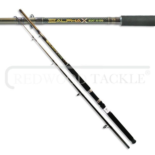Shakespeare alpha x boat sea fishing rod 30 50lb class 7 for Boat fishing rods