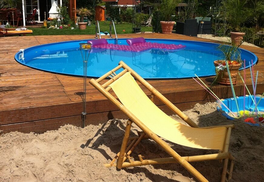 pool rundbecken 400x120 cm komplettset mit kombihandlauf stahlwandbecken 4 0 ebay. Black Bedroom Furniture Sets. Home Design Ideas