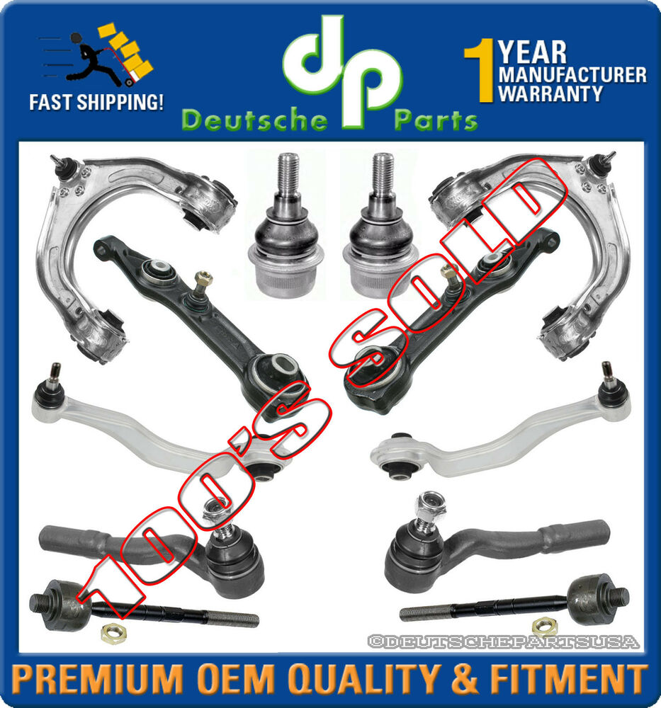 mercedes w211 e320 e350 e500 control arms ball joints tie rods suspension kit 12
