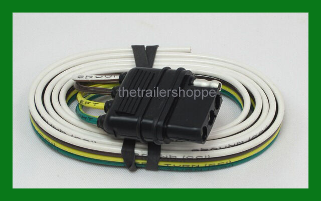 trailer light wiring harness flat 4 way pole pin truck | ebay 4 pin wiring harness 4 pin trailer harness schematic