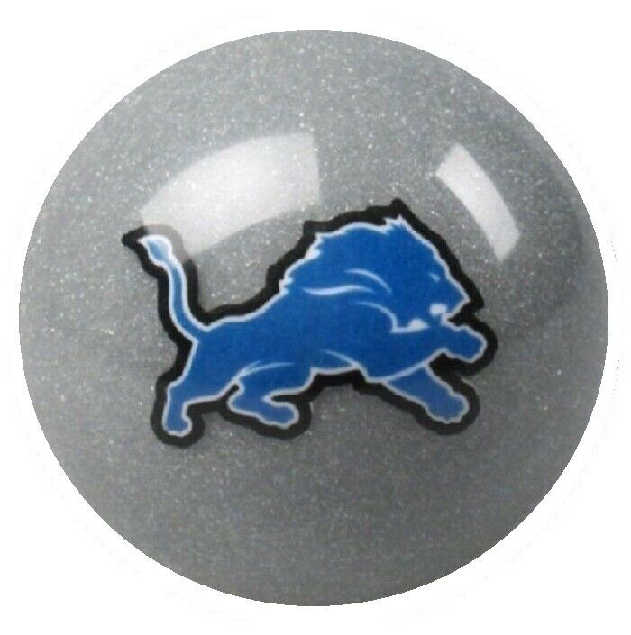 Detroit Lions Silver Nfl Billiard Game Table Pool Table Cue 8 Ball Replacement Ebay