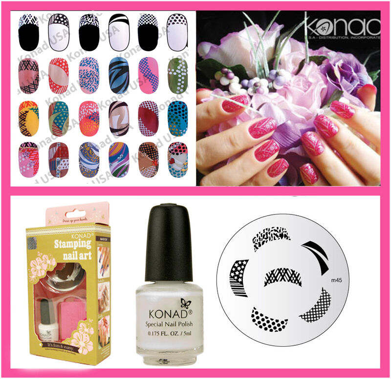 Konad Stamping Nail Art Basic Set s include M45 French | eBay