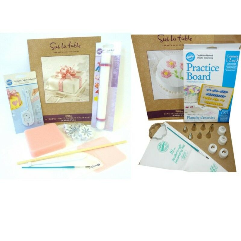 Cake Decorating Kit With Book : Wilton Fondant & Gum Paste Kit or Cake Decorating Kit eBay