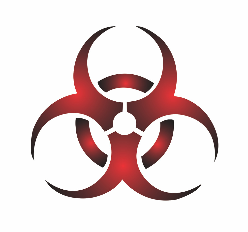 Artistic Symbols: STENCIL BioHazard Caution Safety Danger Poison Symbol