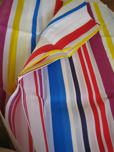Nautical stripe shower curtain - Bright Stripes White Blue Red Fabric Shower Curtain New Ebay