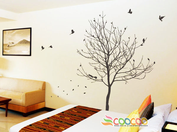 Wall decor decal sticker removable large tree trunk 90 ebay for Tree trunk wall art