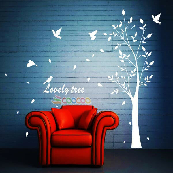 Wall Decor Decal Sticker Removable Vinyl Large Tree 74 Quot Ebay