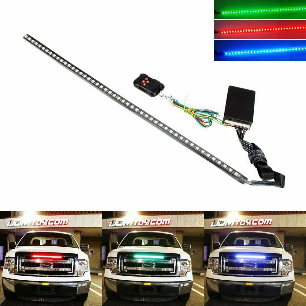 24 7 color rgb led knight rider strip light for under. Black Bedroom Furniture Sets. Home Design Ideas