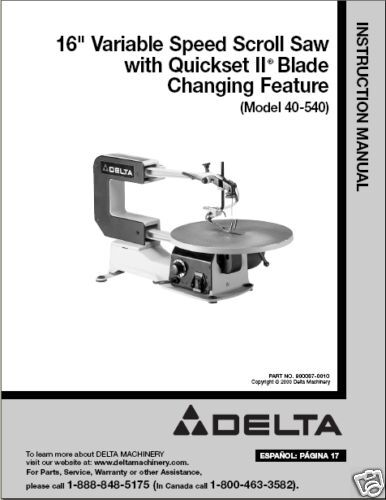 "Delta Shopmaster Scroll Saw Delta 16"" ..."