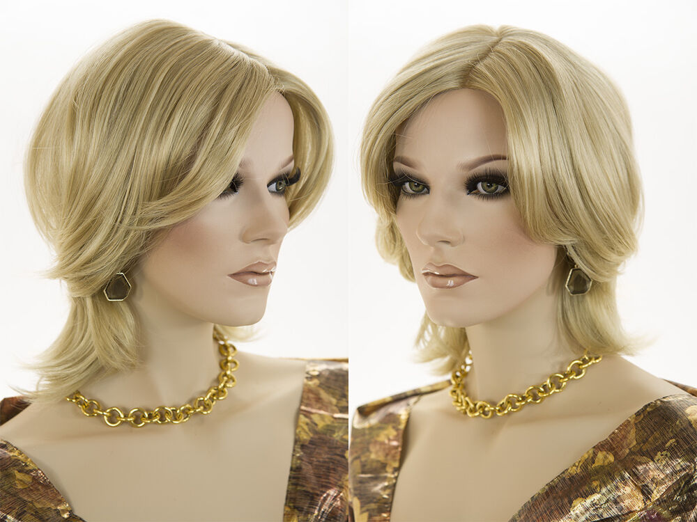 Shag Style Short Blonde Red Straight Monofilament Hand