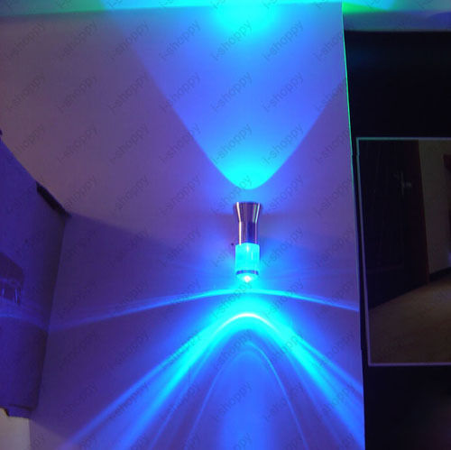 Wall Sconces Up Lighting: 2W LED Wall Sconce Light Fixture Up/Down Lamp Energy Save