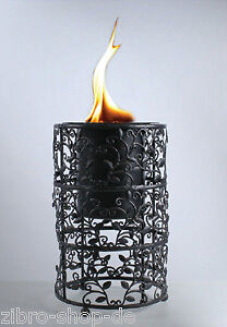 feuer s ule kamin feuerschale bio ethanol alkohol gro ebay. Black Bedroom Furniture Sets. Home Design Ideas