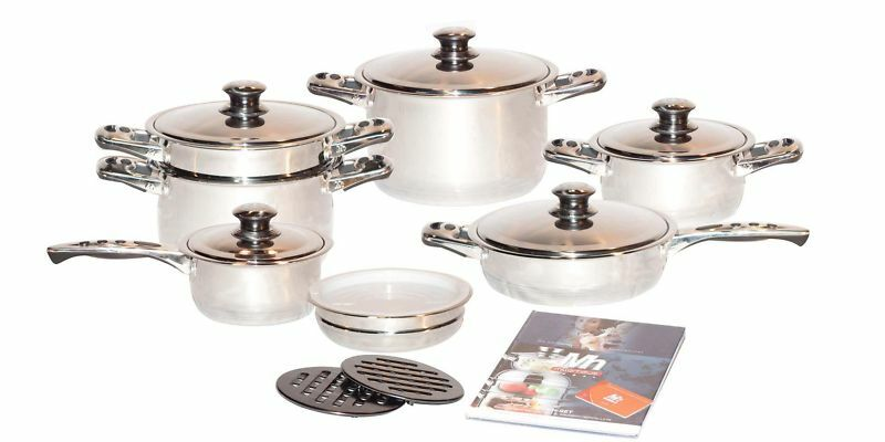 Millerhaus 17 Pc 7 Ply T304 Stainless Steel Cookware Ebay