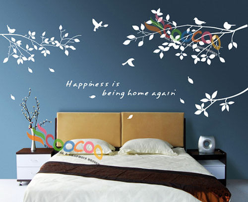 Wall Decor Decal Sticker Removable Tree Branches Birds Ebay