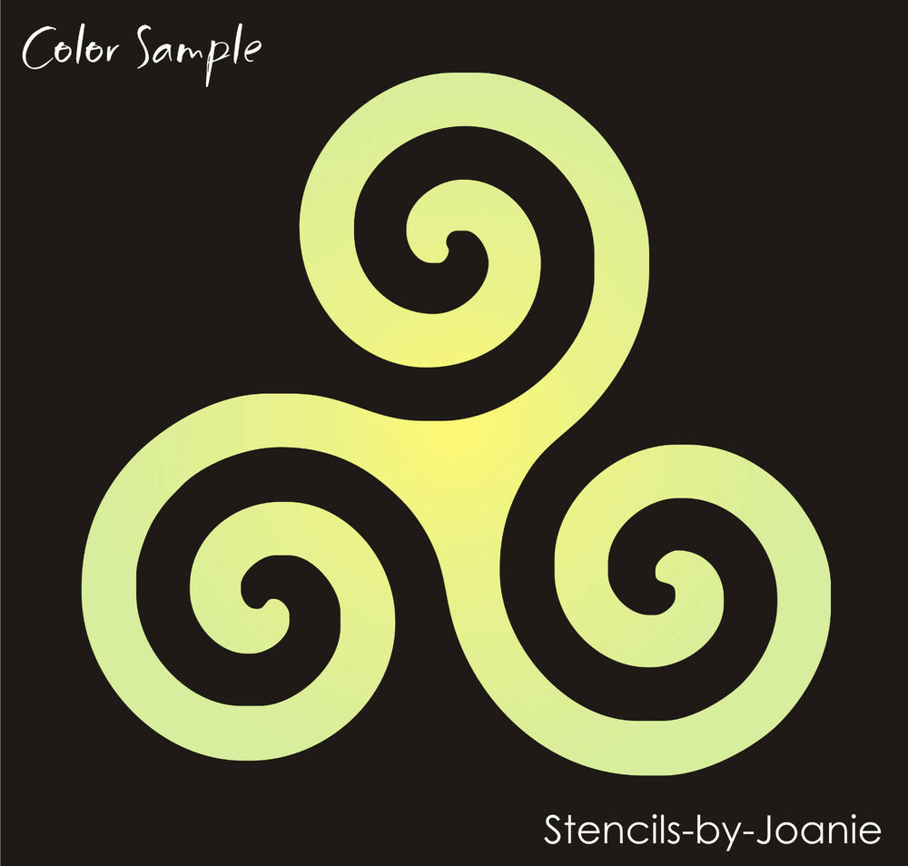 Joanie STENCIL Triskele Triple Spiral Wall Art Celtic Irish Symbol ...