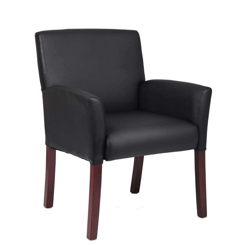 black side guest waiting room office chair ebay. Black Bedroom Furniture Sets. Home Design Ideas