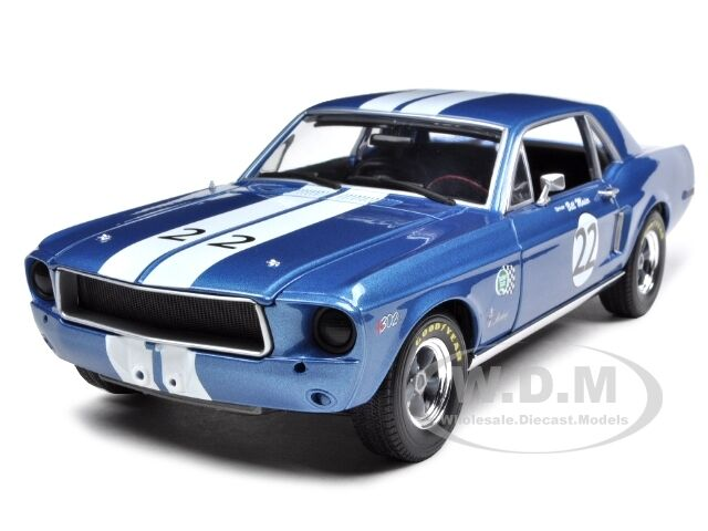 1968 ford mustang 22 t a bill maier tribute ed 1 18 model car greenlight 12832 ebay. Black Bedroom Furniture Sets. Home Design Ideas