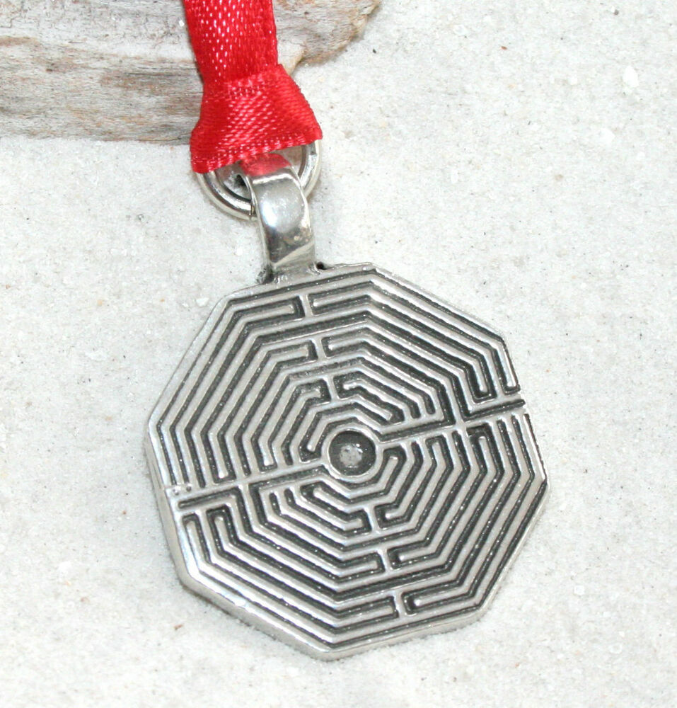LABYRINTH MAZE GREEK Pewter Christmas ORNAMENT Holiday