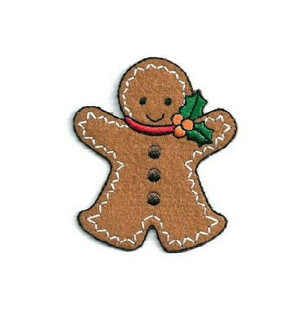 Gingerbread Man - Holiday - Cookie - Iron On Applique