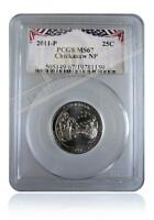 PCGS MS67 2011-P Chickasaw National Park Quarter Bunting Insert