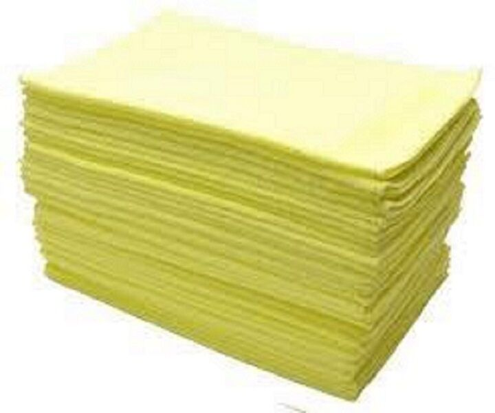 48 YELLOW MICROFIBER TOWEL NEW CLEANING CLOTHS BULK