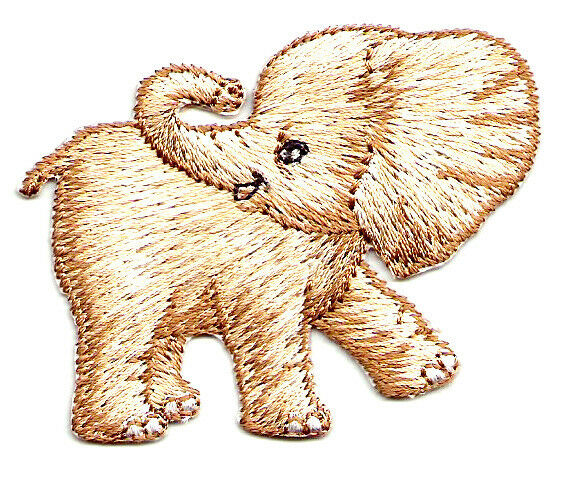 BABY ELEPHANT EMBROIDERED IRON ON APPLIQUE  EBay