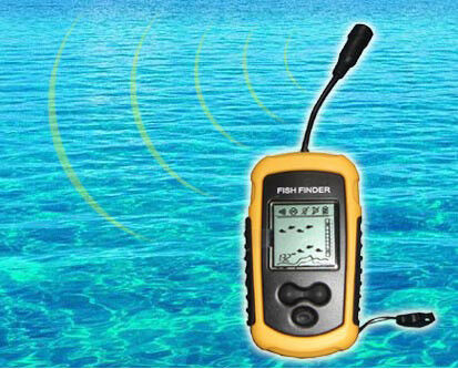 Portable fish finder sonar depth sounder with alarm ebay for Fish finder depth finder