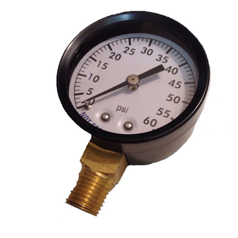 swimming pool spa filter pressure gauge metal housing 0 60 psi 1 4 lower mount ebay
