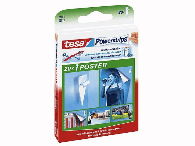 tesa powerstrips poster 20 st power strip neu ovp tesa poster strip ebay. Black Bedroom Furniture Sets. Home Design Ideas