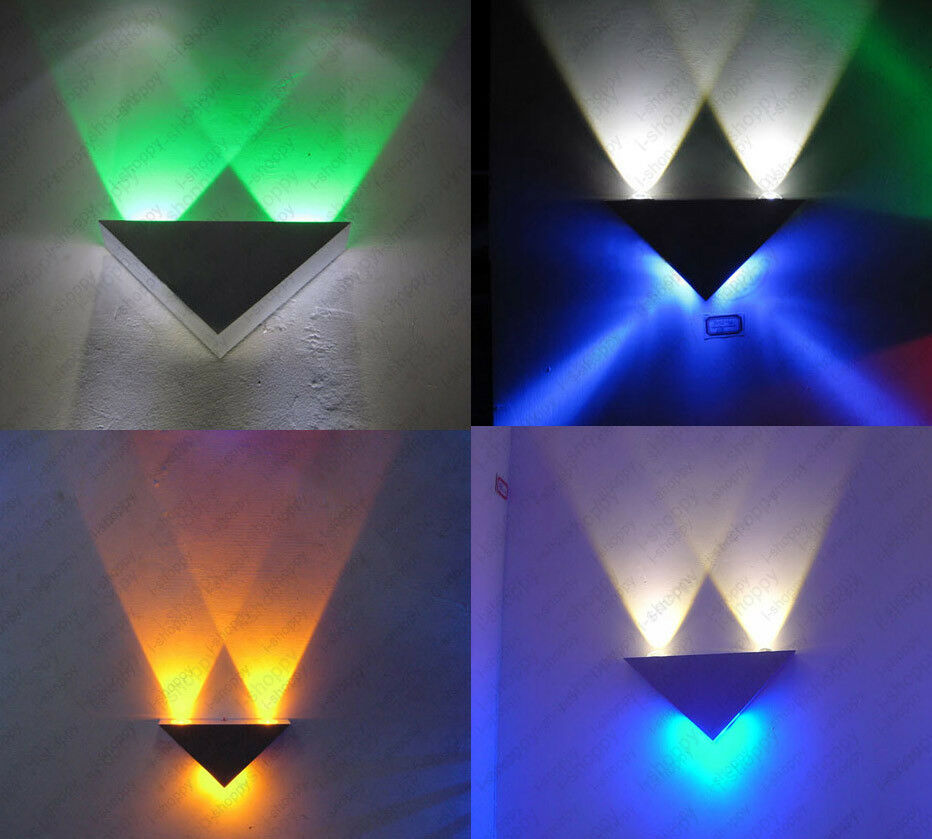 Led Light Fixture Pictures: Triangle Lamp LED Wall Sconces Light Fixture Disco
