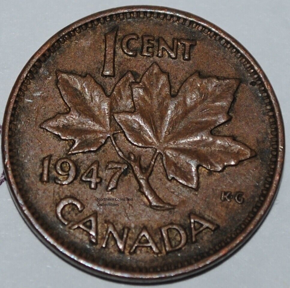 Canada 1947 1 Cent Copper One Canadian Penny Nice Coin Ebay