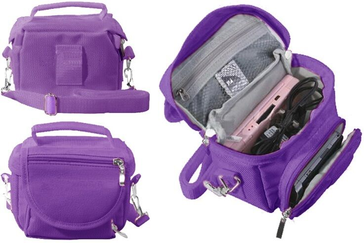 purple travel carry case nintendo for 3ds 3ds xl ds lite dsi dsi xl ebay. Black Bedroom Furniture Sets. Home Design Ideas