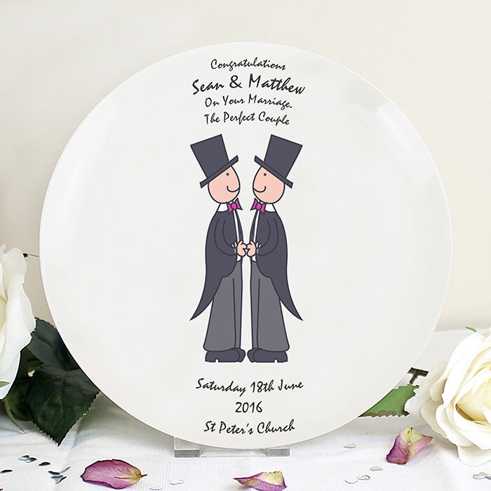 GAY MALE CIVIL PARTNERSHIP CEREMONY SAME SEX MARRIAGE WEDDING GIFT ...