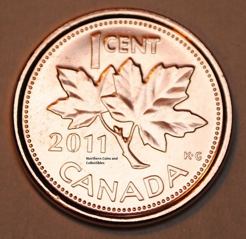 Canada 2011 1 Cent Nice Uncirculated Canadian Penny Non Magnetic From Roll Ebay