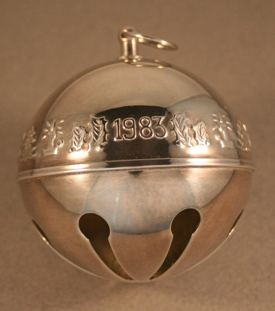 Wallace silverplate sleigh bell christmas ornament ebay