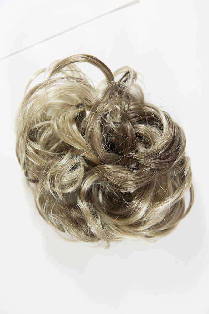 Frosted Brunette Wavy Curly Hair Pieces Accessories Ebay