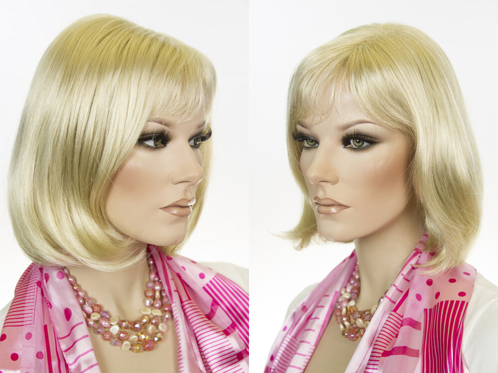 Mid Length Page BBoy Style Layered Bangs Blonde Brunette