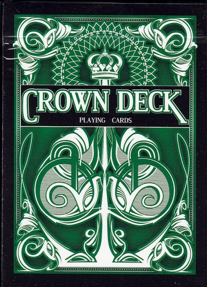 1 New Deck GREEN CROWN PLAYING CARDS By Bicycle USPCC