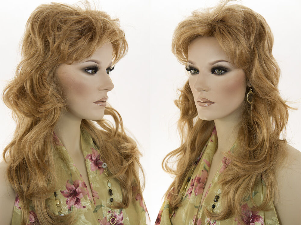 Glamorous 21 In Long Wavy Shag Hairstyle With Bangs Blonde