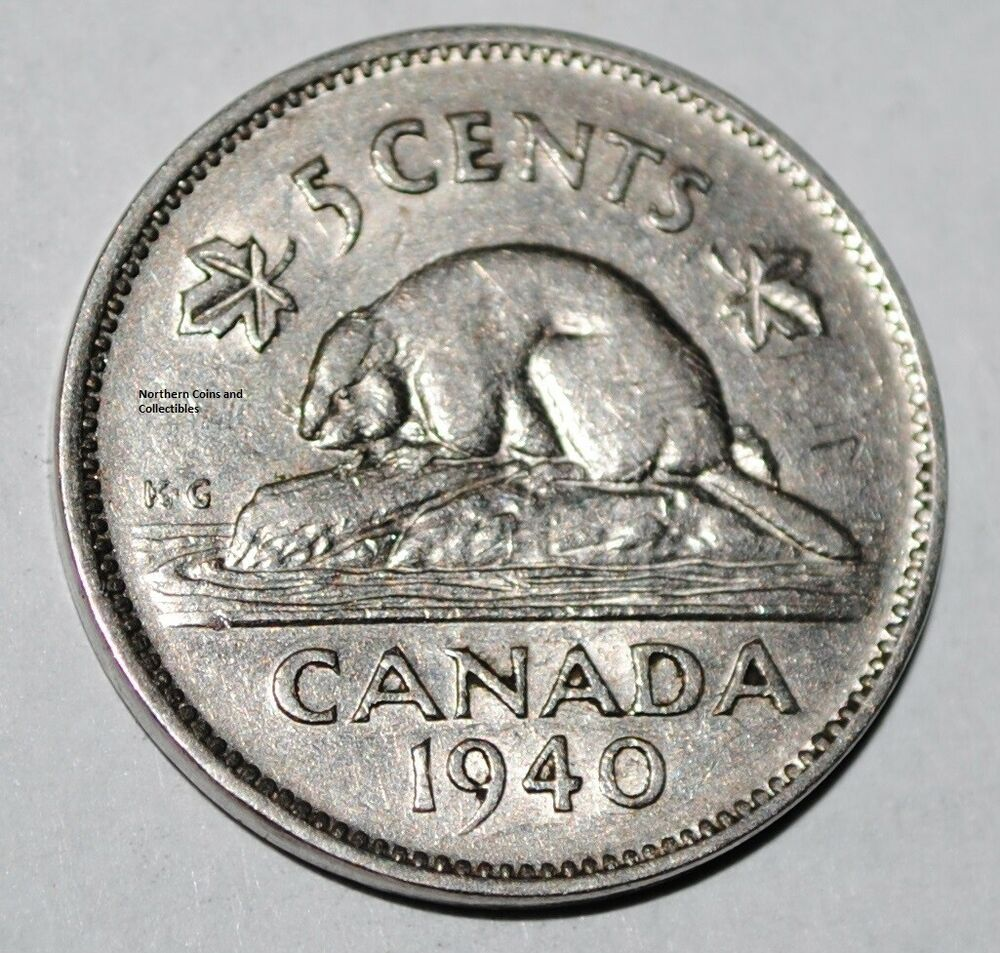 canada 1940 5 cents george vi canadian nickel ebay. Black Bedroom Furniture Sets. Home Design Ideas